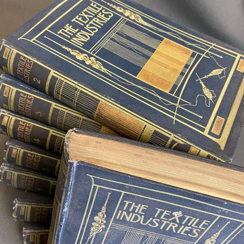 Early 20th Century Eight Volumes of The Textiles Industry image-2