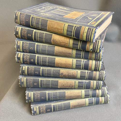Early 20th Century Eight Volumes of The Textiles Industry image-1