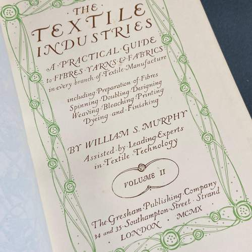 Early 20th Century Eight Volumes of The Textiles Industry image-5