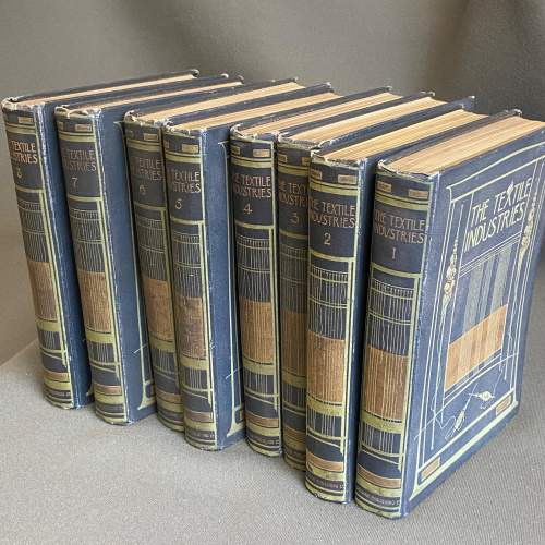 Early 20th Century Eight Volumes of The Textiles Industry image-3
