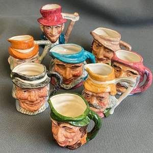 Complete Set of Eight Widecombe Fair Character Jugs