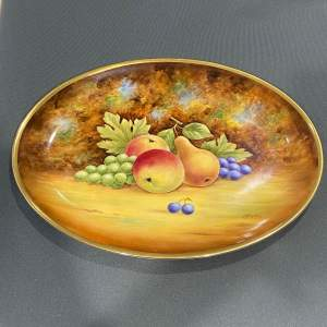 Hand Painted Fruit Plate by Ex Coalport Artist J.Bailey