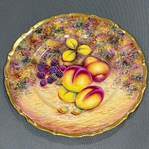Edwardian Collection Dinner Plate Painted by D.Wilson