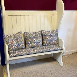Vintage Painted Pitch Pine Bench