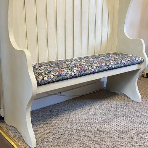 Vintage Painted Pitch Pine Bench image-4