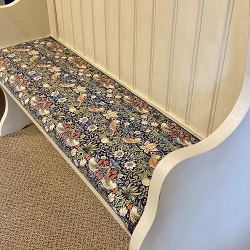 Vintage Painted Pitch Pine Bench image-3