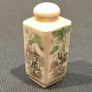 Oriental Carved Bone Scent Bottle