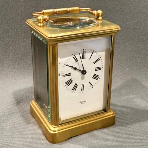 Oswin Paris Brass Cased Carriage Clock image-1