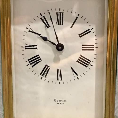 Oswin Paris Brass Cased Carriage Clock image-2