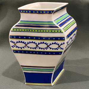 Rosenthal Hand Decorated Shifted Perspective Porcelain Vase