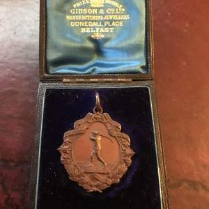 A Rare 1895 The County Golf Club Portrush Cased Winners Medal