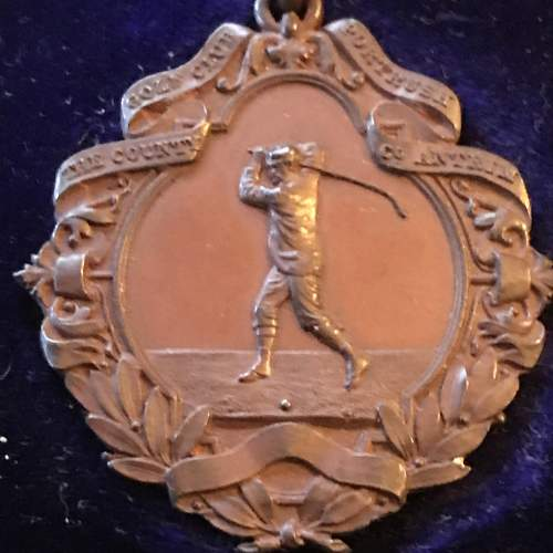 A Rare 1895 The County Golf Club Portrush Cased Winners Medal image-2