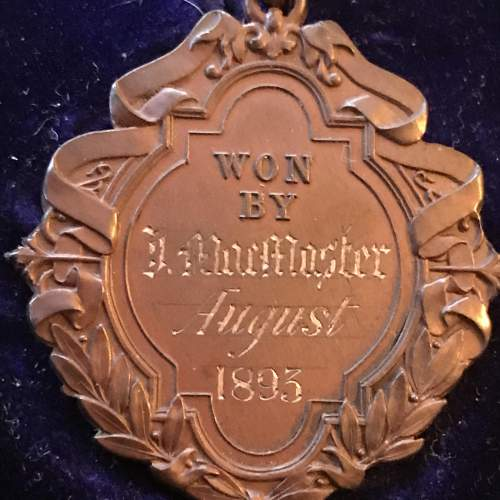 A Rare 1895 The County Golf Club Portrush Cased Winners Medal image-3