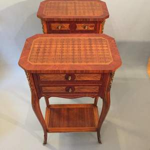 Two French Bedside Cabinets
