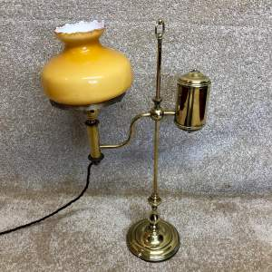 Victorian Brass Student Desk Lamp