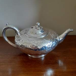Victorian Solid Silver Teapot London 1847