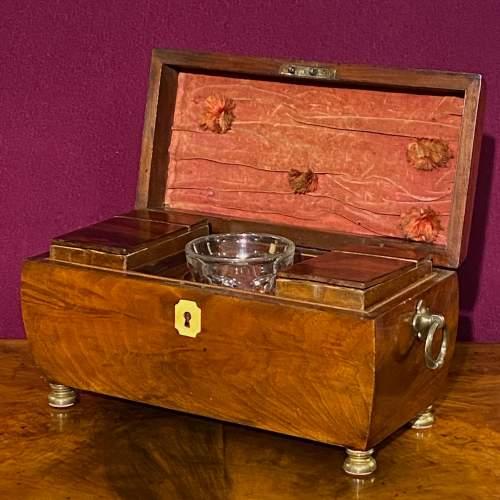Early Victorian Mahogany Tea Caddy image-1