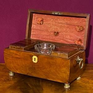 Early Victorian Mahogany Tea Caddy