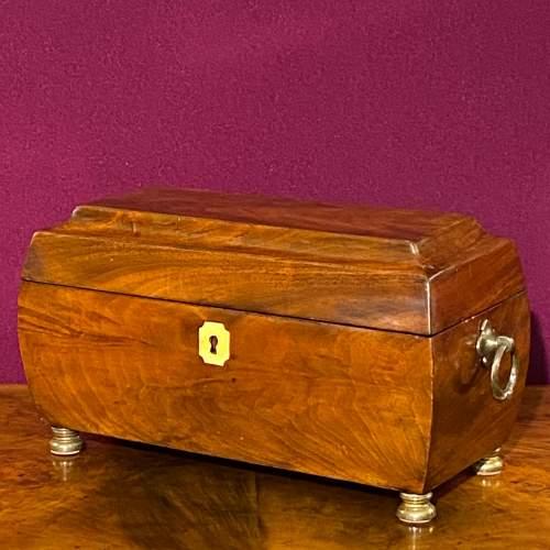 Early Victorian Mahogany Tea Caddy image-2