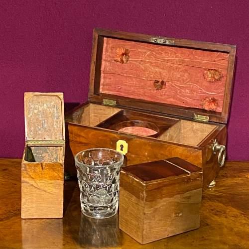 Early Victorian Mahogany Tea Caddy image-5
