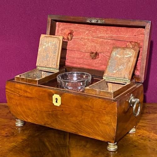 Early Victorian Mahogany Tea Caddy image-4
