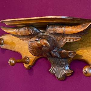 Black Forest Carved Eagle Coat and Hat Stand