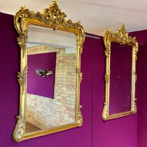 Pair of Very Large Rococo Style Mirrors