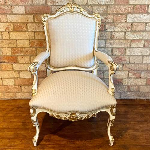 Pair of French Fauteuils Arm Chairs image-3