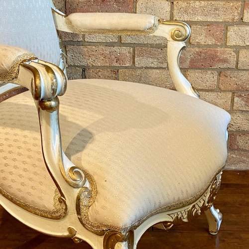 Pair of French Fauteuils Arm Chairs image-5