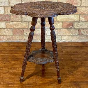 Early 20th Century Carved Eastern Occasional Table