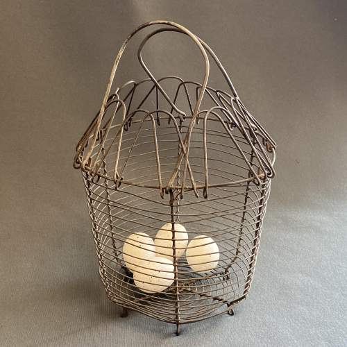 Early 20th Century French Cone Shaped Egg Basket image-3
