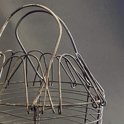 Early 20th Century French Cone Shaped Egg Basket image-4