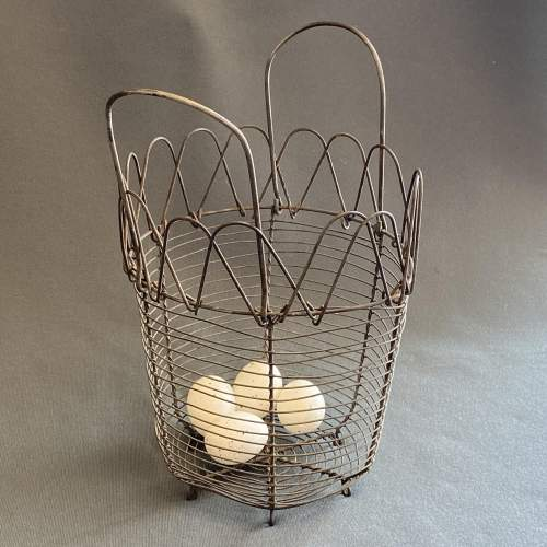 Early 20th Century French Cone Shaped Egg Basket image-2