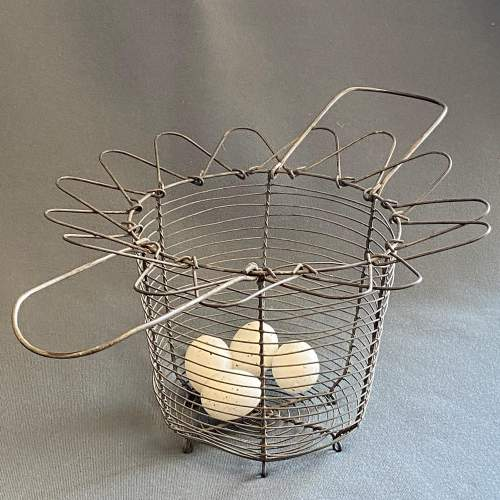Early 20th Century French Cone Shaped Egg Basket image-1