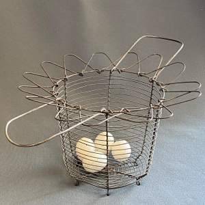 Early 20th Century French Cone Shaped Egg Basket