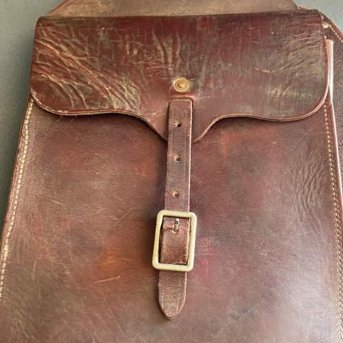 Vintage American Burgundy Leather Saddle Bags image-2