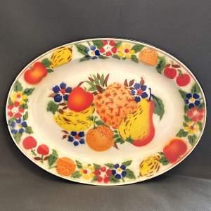 Vintage American Oval Tin Platter