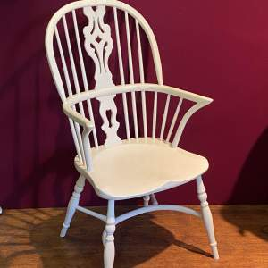 White Painted Windsor Chair