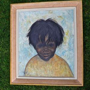 Boy with the Frightful Hair Oil Painting by Pascoal de Souza