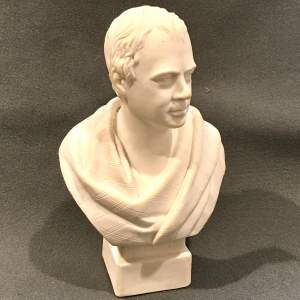 19th Century Parian Bust of Sir Walter Scott