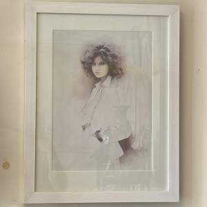 1970s Original Framed Sara Moon Print of a Lady in a Jacket