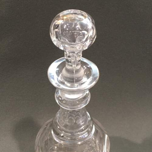 Pair of Early Victorian Glass Decanters with Stoppers image-3