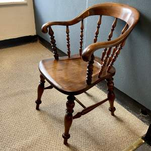 Elegant 19th Century Captains Chair