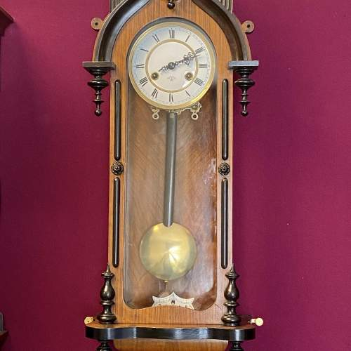 Pretty 8-Day Gothic Revival Wall Clock image-4