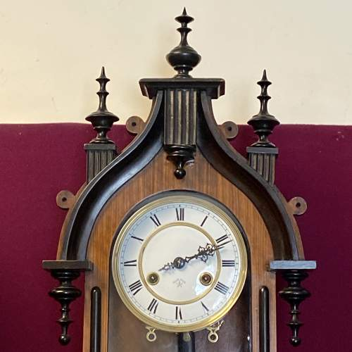 Pretty 8-Day Gothic Revival Wall Clock image-1