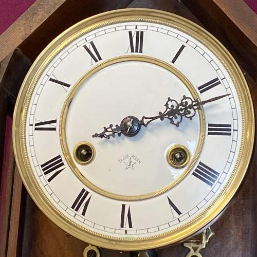 Pretty 8-Day Gothic Revival Wall Clock image-2