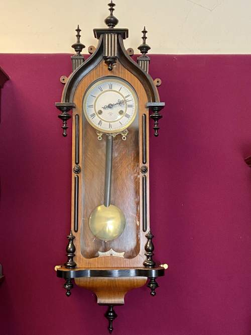 Pretty 8-Day Gothic Revival Wall Clock image-3