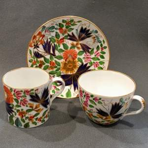 Early 19th Century Coalport Trio