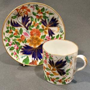 Early 19th Century Coalport Coffee Can and Saucer
