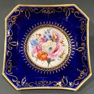 Early 19th Century Coalport Square Plate
